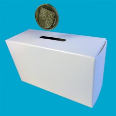 Manual cuboid money box