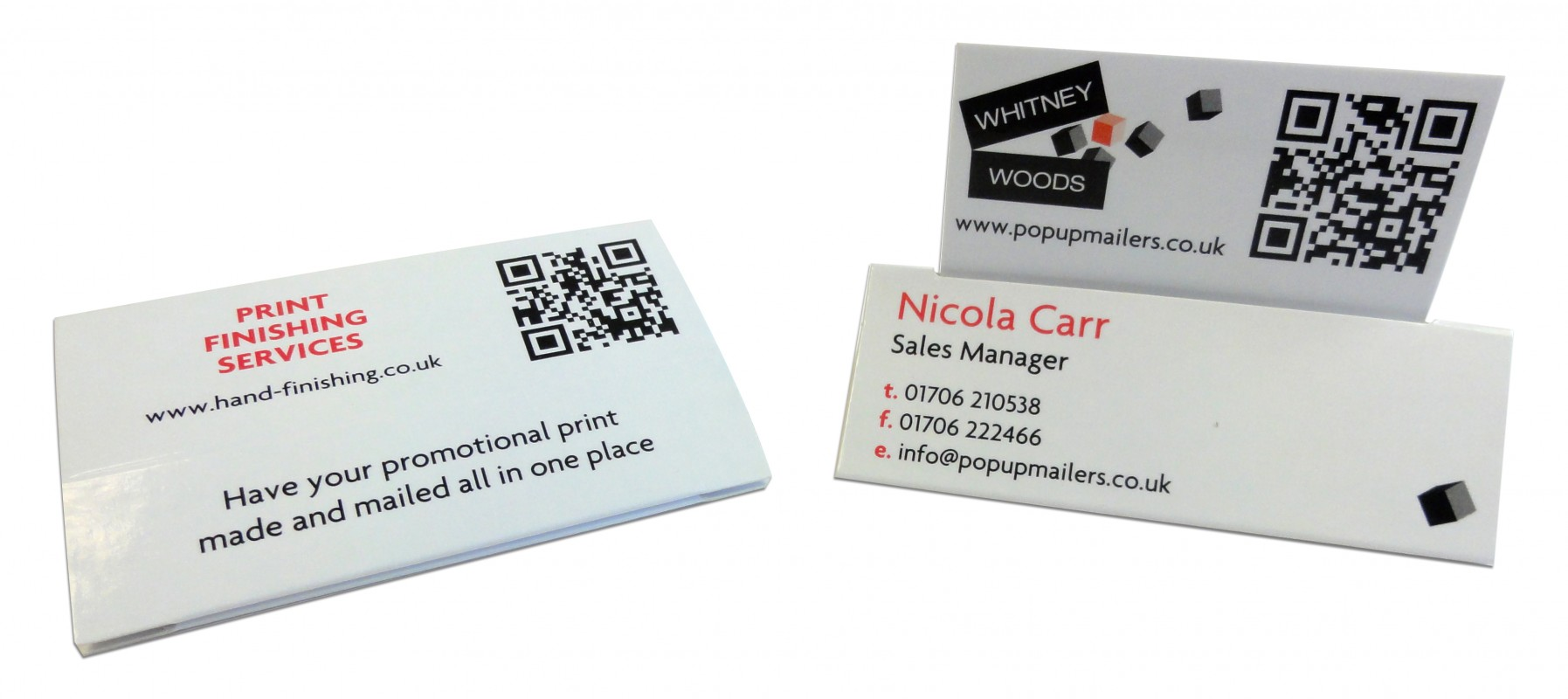 Business card tent topper whitney woods for Tent business cards