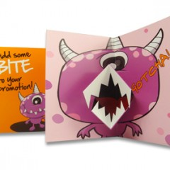 Monster mouth card