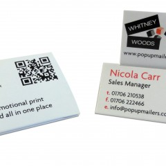 Business card – tent topper