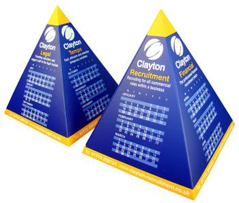 pyramid desk calendar