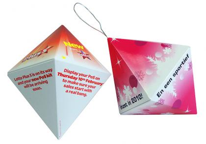 Deck the Halls with a Pop up Diamond from the Pop up Gems range -  Top Quality Christmas Direct Mail Ideas