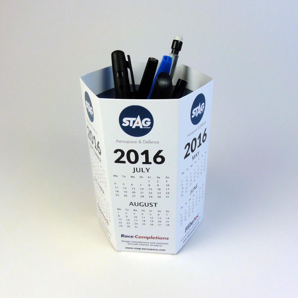 Push up pen holder - hexagonal