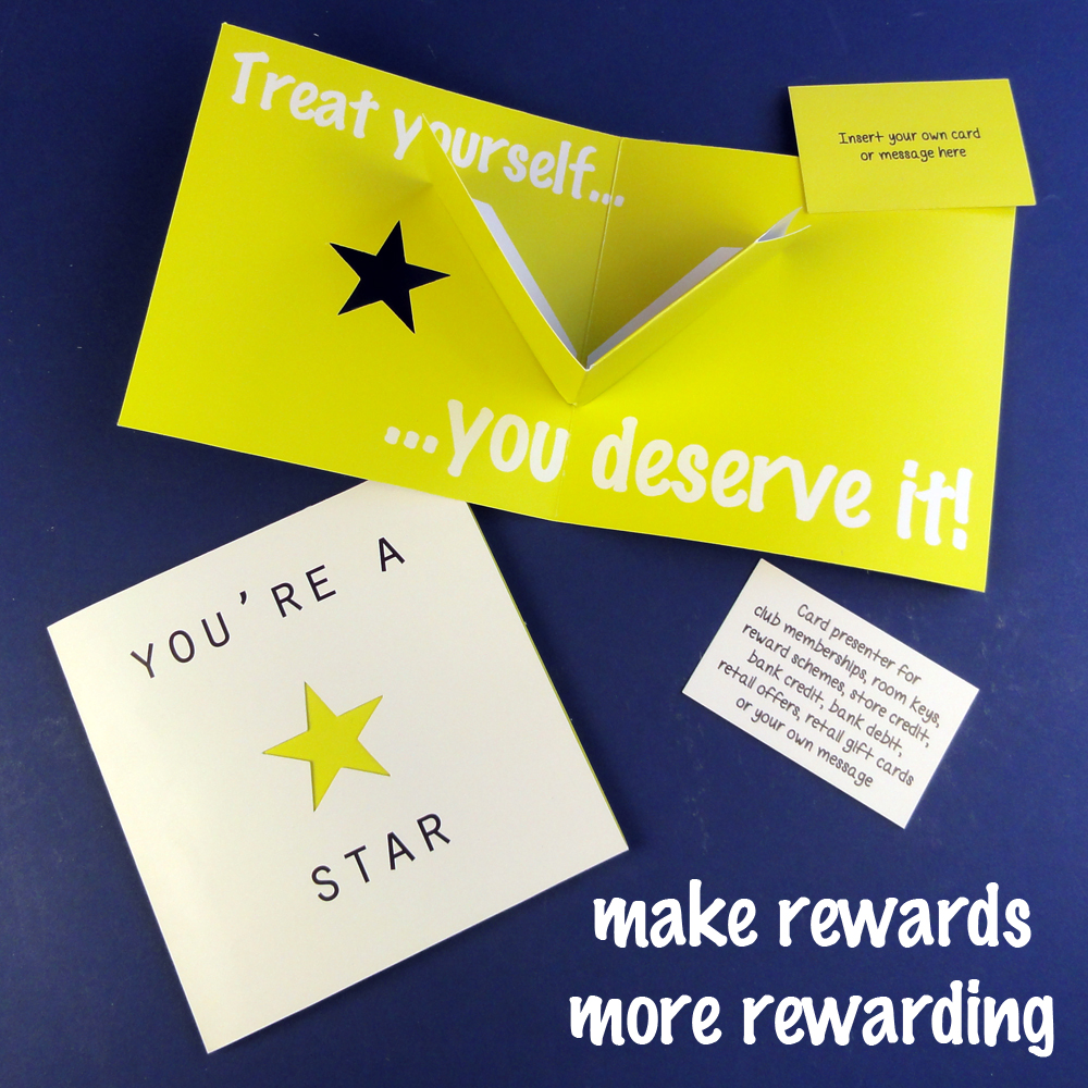 staff reward and incentive gift card holder