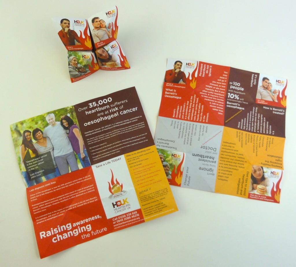Interactive handout to raise awareness for charities