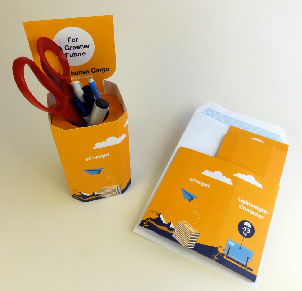 Lufthansa Cargo promotional pen holder