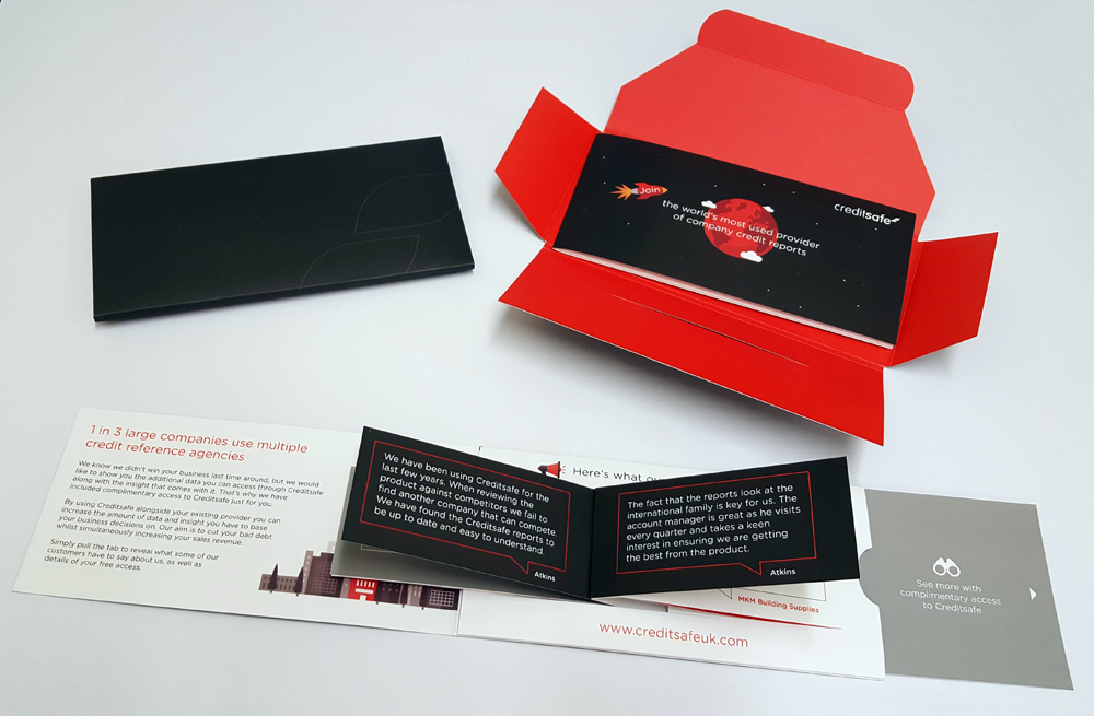 Direct mail flicker card promotion for Creditsafe